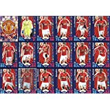 Topps Match Attax 2016/2017 Manchester United Team Base Set Plus Badge Logo , Star Player & Away Kit Cards 16/17