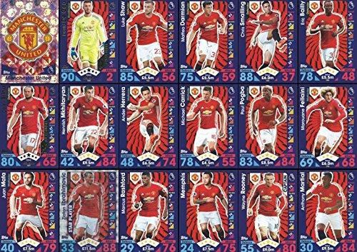 16/2017 Manchester United Team Base Set Plus Badge Logo , Star Player & Away Kit Cards 16/17 (United Badge)