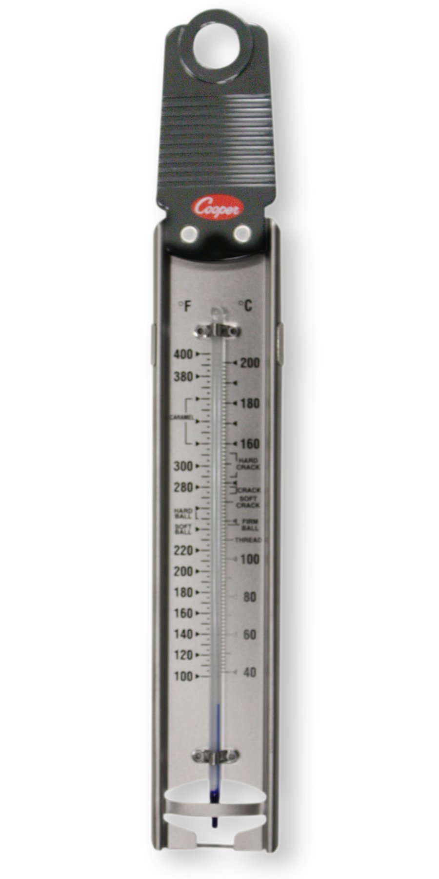 Cooper-Atkins 329-0-8 Glass Tube Bi-Metals Candy Deep-Fry Paddle Thermometer, 100 to 400 degrees F Temperature Range by Cooper (Image #1)