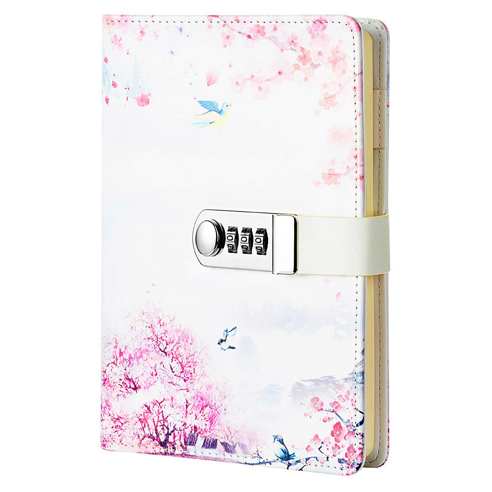 JunShop Creative Password Lock Journal Diary Digital Locking Diary Notepad Book Combination Journal Diary with lock A5 Planner Cover (Style 4) by JunShop