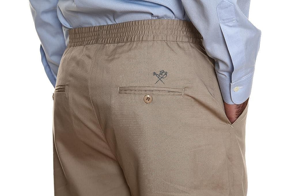 Pembrook Mens Full Elastic Waist Twill Casual Pant 200702