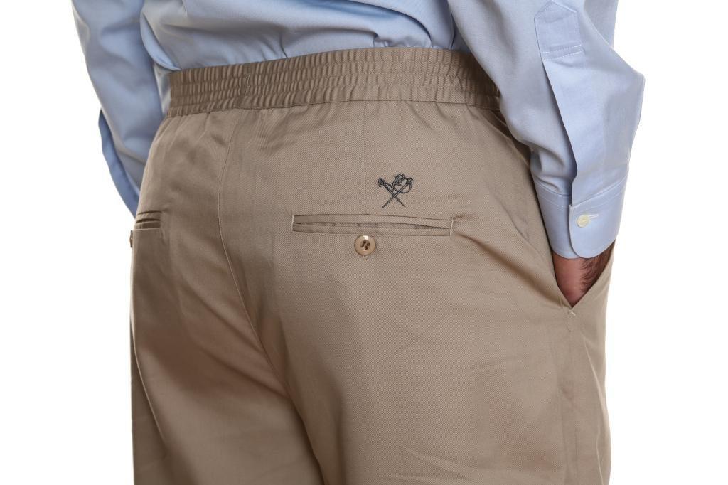 Pembrook Men's Full Elastic Waist Twill Casual Pant - L - Tan by Pembrook (Image #5)