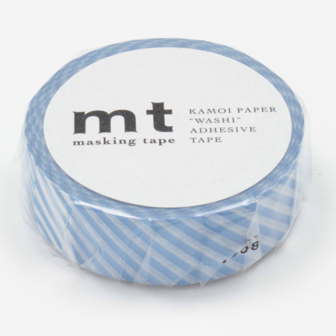 MT Washi Masking Tape Stripe Light Blue (MT01D145)