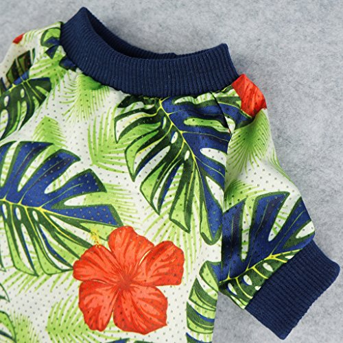 Fitwarm Palm Leaf Pet Clothes for Dog Shirts Cat T-shirts Apparel Green Large by Fitwarm (Image #3)