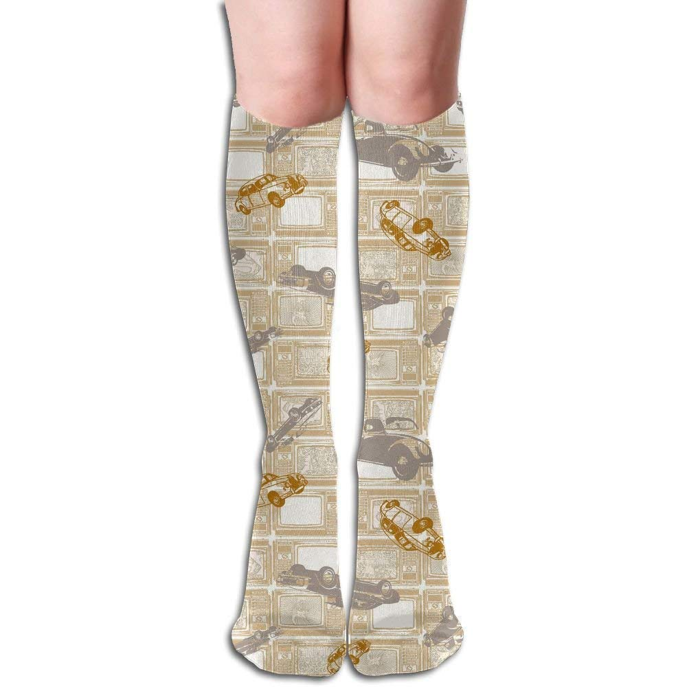 6868bfc548b Amazon.com  Tube High Knee Sock Boots Crew Circle Target Pattern  Compression Socks Long Sport Stockings 19.7in (50cm)  Clothing