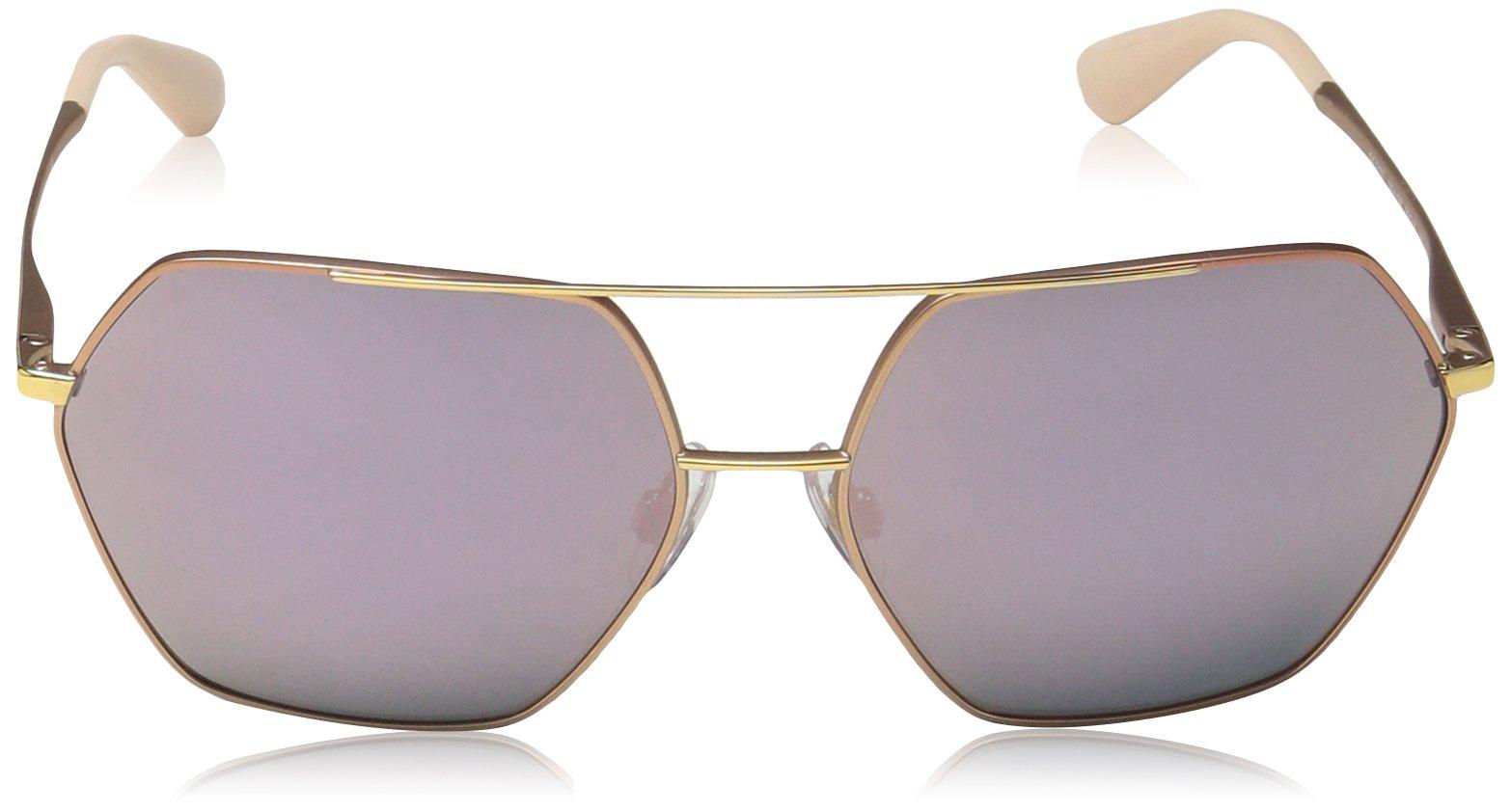 Dolce & Gabbana Women's Metal Woman Non-Polarized Iridium Square Sunglasses, Matte Pink Gold, 59.2 mm by Dolce & Gabbana (Image #2)