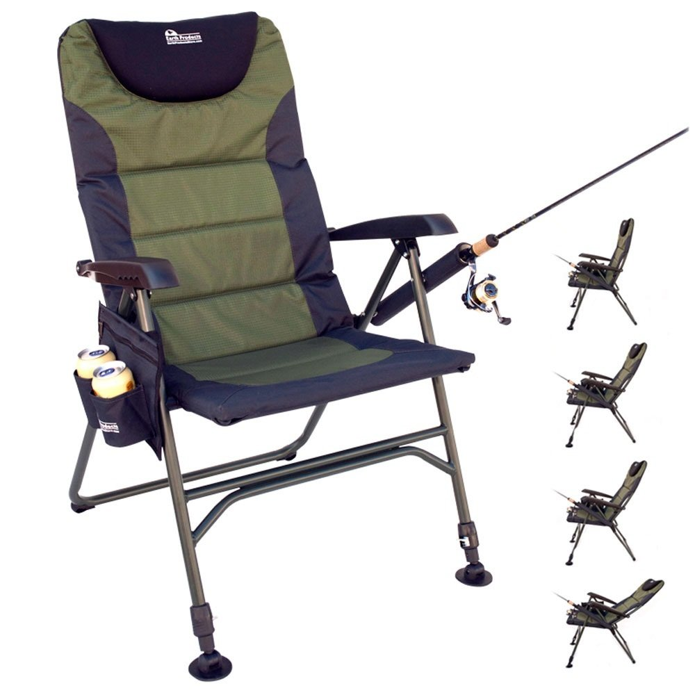 Earth Products Ultimate Outdoor Adjustable Fishing Chair with Adjustable Legs by Earth Products Store