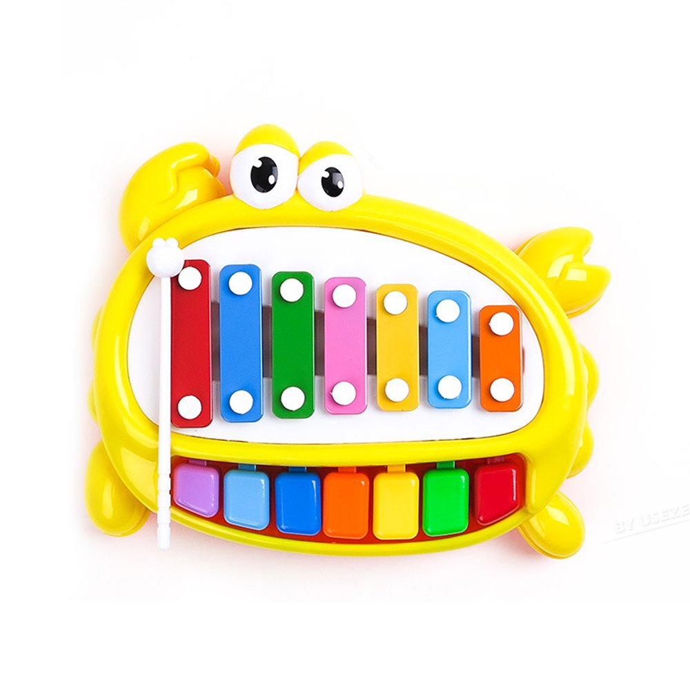 Baidercor 7 Tones Xylophone Musical Toys with Colorful Keys