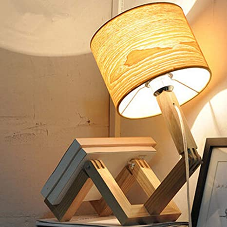 Creative warm art decoration simple modern individual wooden table lamp,Free Shipping worldwide,110-240 V50-60 Hz,Natural\u00a0wooden\u00a0color.
