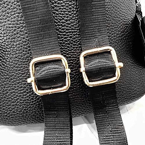 Donna Paillettes Zipper Gold Colore Dimensione Oro Schoolbags Nero Backpack Shining PU Bambina Bambina wrw1OBqE