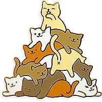 Pinsanity Cute Cat Kitten Pile Meowtain Enamel Lapel Pin