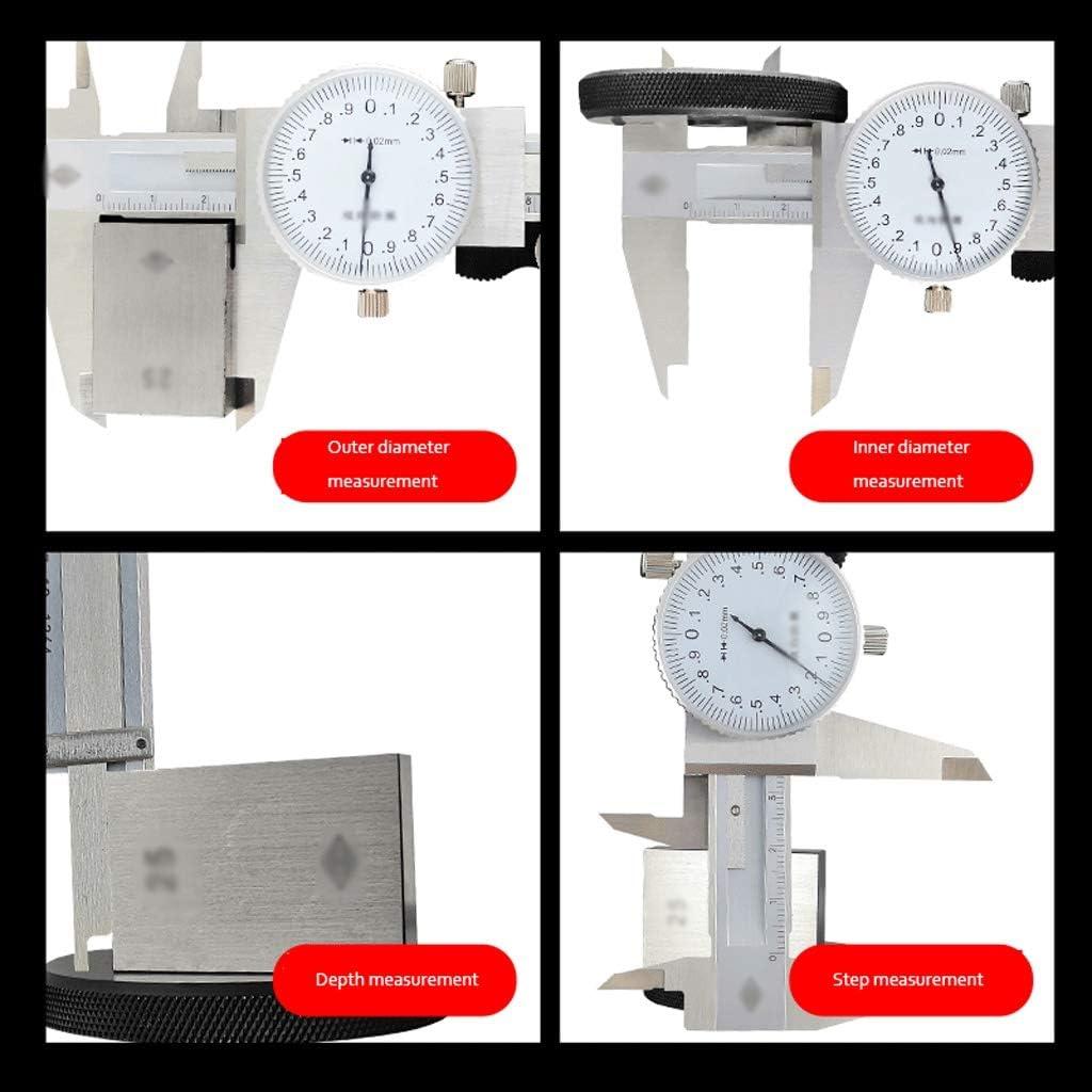 Color : 0-200MM Vernier Calipers Digital Vernier Caliper 0-150-200-300mm Metric Gauge Measuring Tool Dial Vernier Caliper Shockproof Vernier Caliper Stainless Steel Vernier Calipers