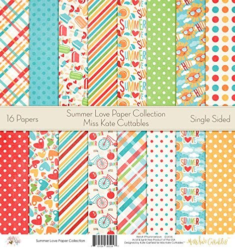 (Pattern Paper Pack - Summer Love - Scrapbook Premium Specialty Paper Single-Sided 12