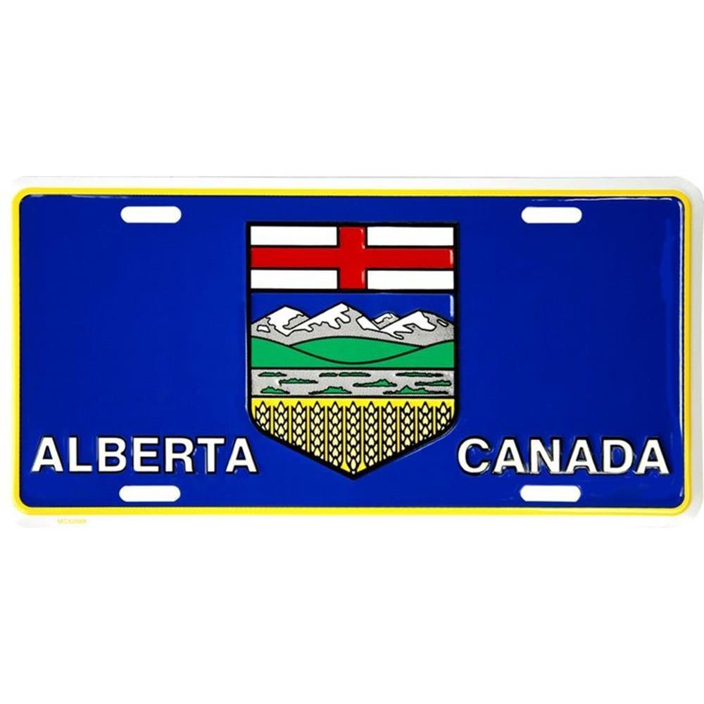 Signs 4 Fun SL52668 Alberta Flag License Plate