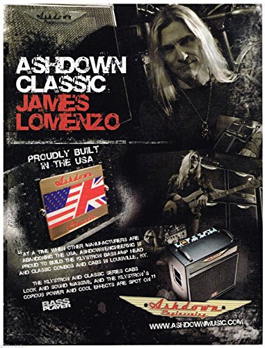 Ashdown Engineering - James Lomenzo (2008) Print Advertisement
