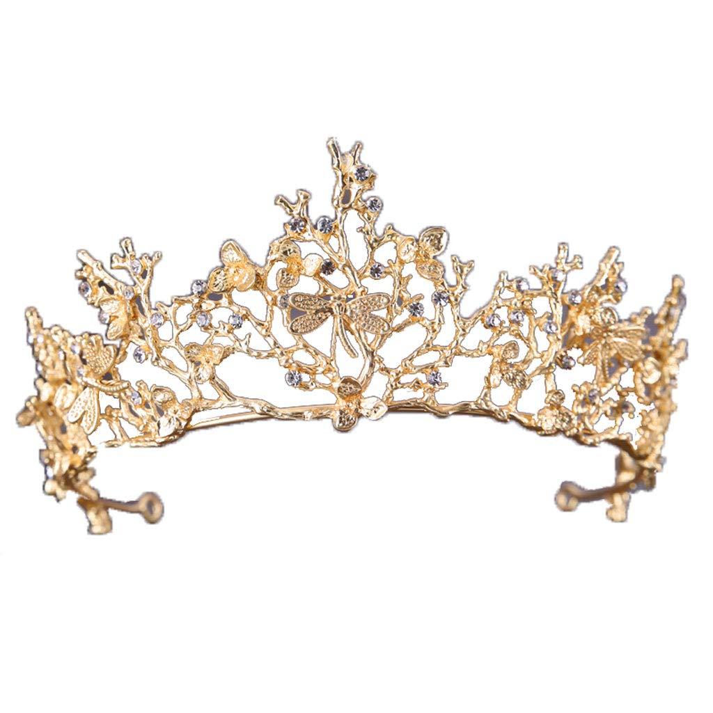 Meen Corona Nuziale, Accessori Per Abito Da Sposa Vintage Con Corona Dorata E Barocco