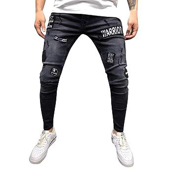 Pantalones vaqueros para hombre, modernos, elásticos, de ...