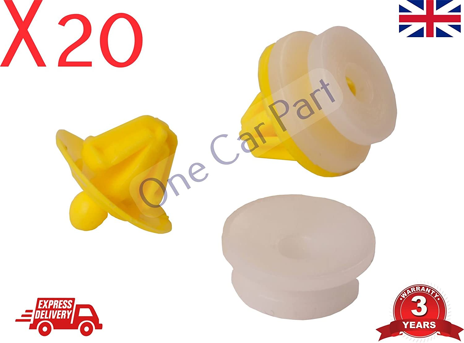 Sill /& Wheelarch Moulding Trim Clips Freelander Land Rover Discovery 20x Door