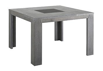 Keo Titan Table carrée pour 8 Personnes, Chêne, Gris, 140 x 140 x 77 ...