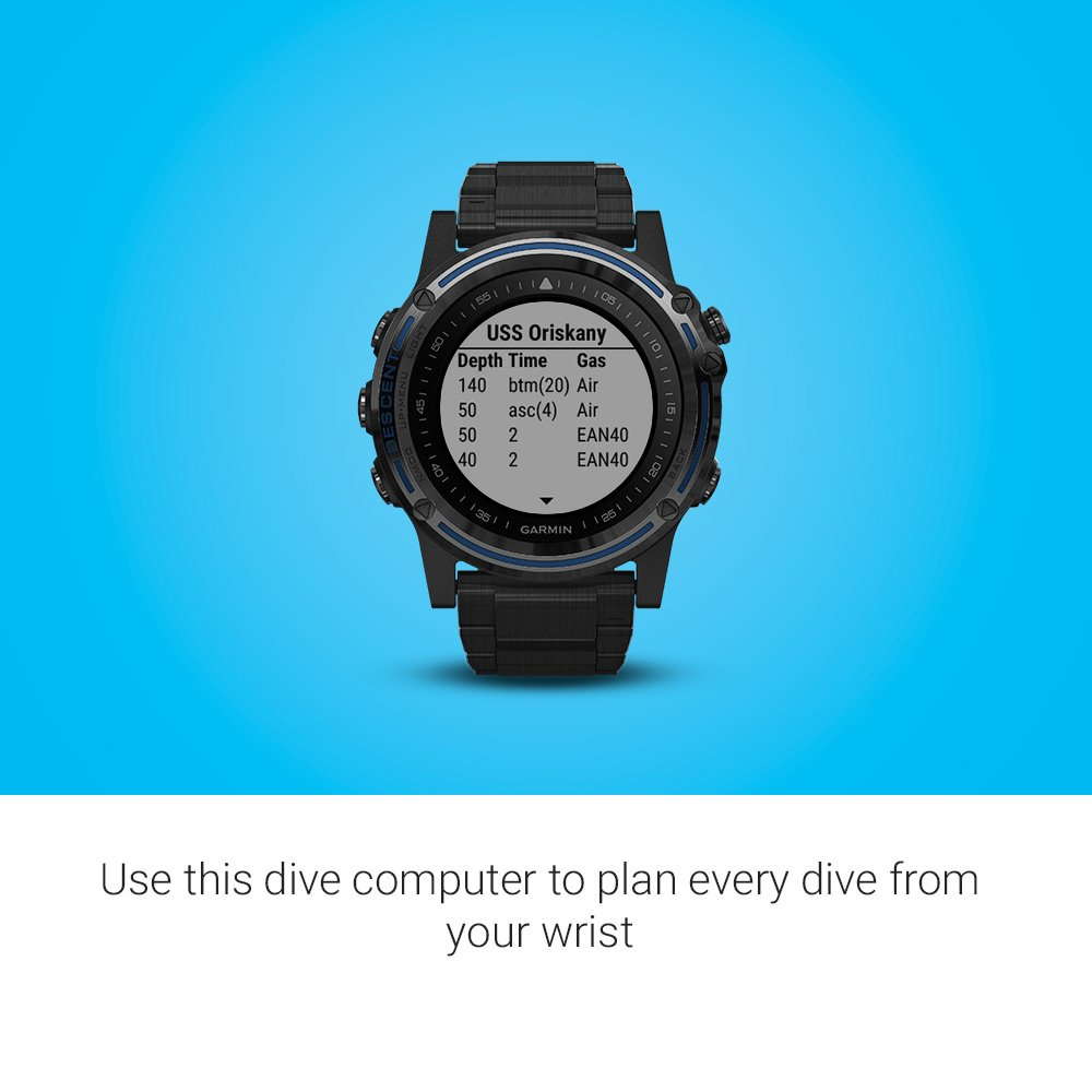 Garmin Descent MK1 GPS Dive Watch - Gray Sapphire with DLC Titanium ...