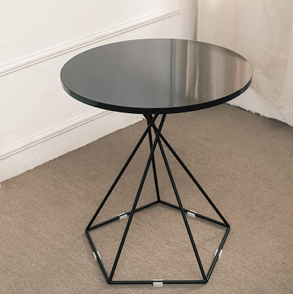 Garde Small Round Table, Simple Mini Bedroom, Modern Household Small Coffee Table, Wrought Iron Creative Casual Negotiation Small Table (Color : D) by Garde