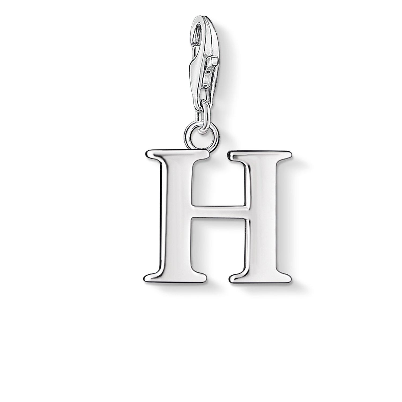 Thomas Sabo Damen-Charm-Anhänger H Buchstabe Charm Club 925 Sterling Silber 0182-001-12