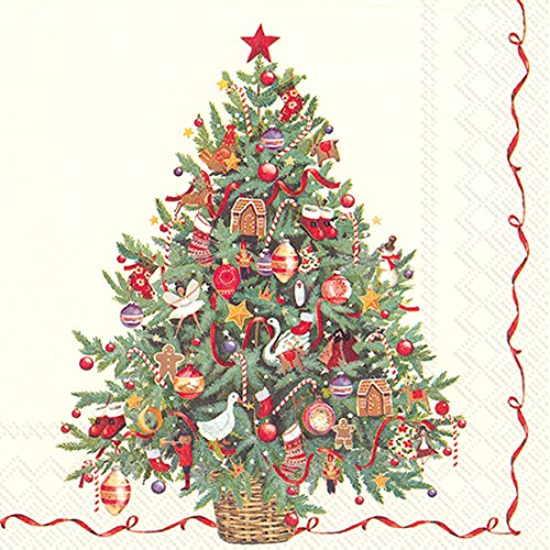 Christmas Trees Direct Uk - Ideal Home Range 20-Count Christmas Tree Paper Cocktail Napkins, Multicolored