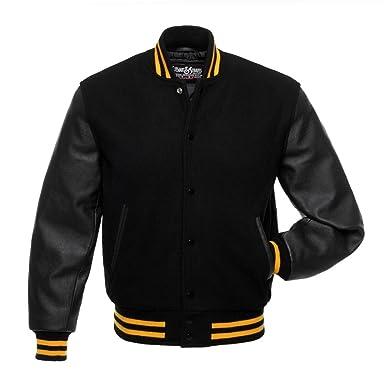 Black varsity jacket h&m