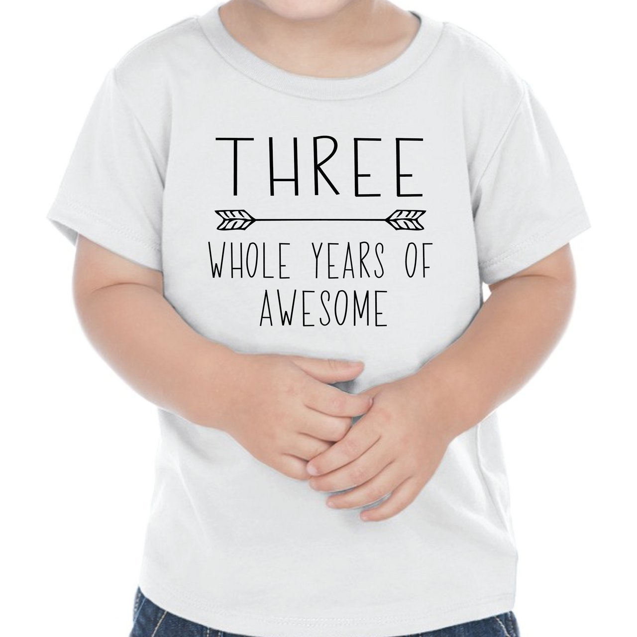 Bump and Beyond Designs Third Birthday Outfit Boy Three Year Old Boy Birthday T-Shirt