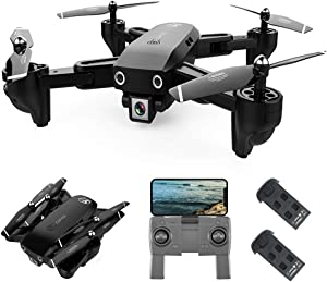 GoolRC CSJ S166 GPS RC Drone with 1080P HD Camera Follow Me Auto Return WiFi FPV Live Video Gesture Photos RC Quadcopter for Adults with 2 Battery