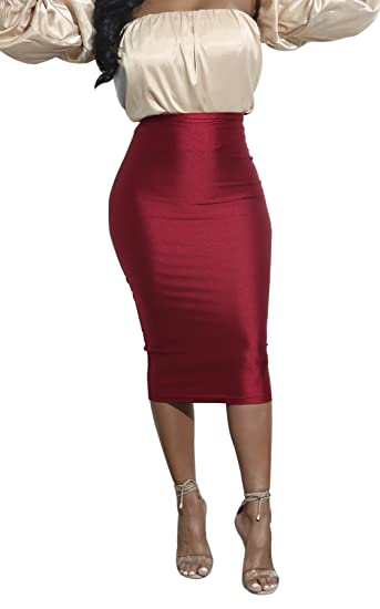 0e002cb1b1 Satin Pencil Skirt | Skirt Direct