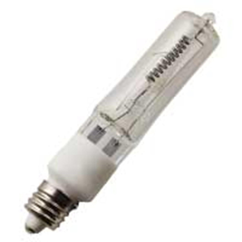 Halco 130V 75W T4 E11 Prism Q75CL//MC 75w 130v Halogen Clear Lamp Bulb 10 Qty