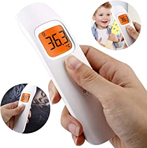 JJIIEE Touchless Forehead Temperature,Infrared Temperature Measurement with Fever Alarm Memory Function for Baby, Children, Adults