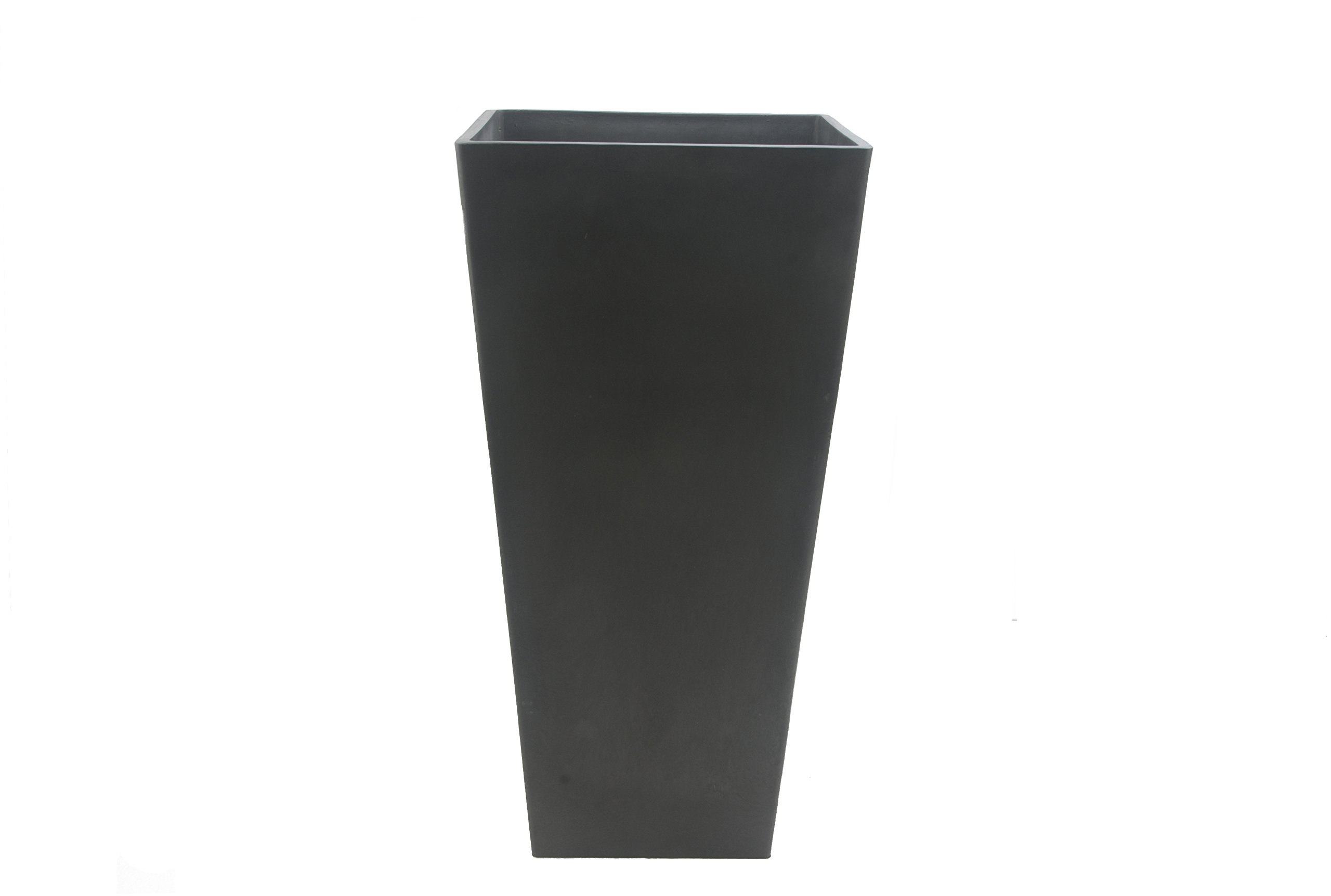 Arcadia Garden Products PSW UFH41DC Contemporary Tall Square Planter, 16 by 16 by 32'', Dark Charcoal