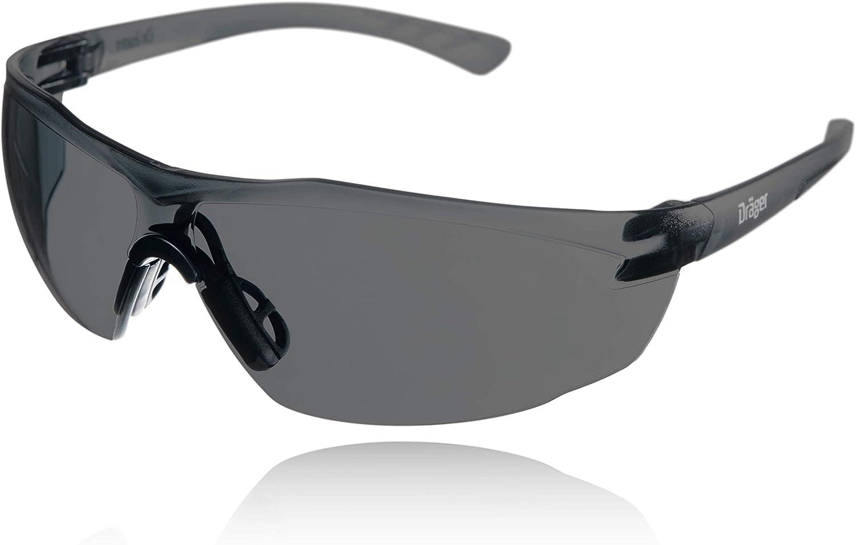 Dräger-Gafas de Seguridad- X-pect 8321 - Lentes de protección Rayos UV antivaho- Ultraligeras para un Uso intensivo - para Industria, Deporte, Laboratorio