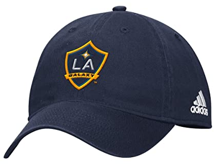 brand new 5126d 8f746 Image Unavailable. Image not available for. Color  Adidas MLS LA Galaxy  Basic Slouch Cap ...