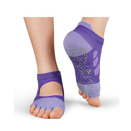 Qiyuezhuangshi01 Calcetines de Yoga, Calcetines Femeninos de ...