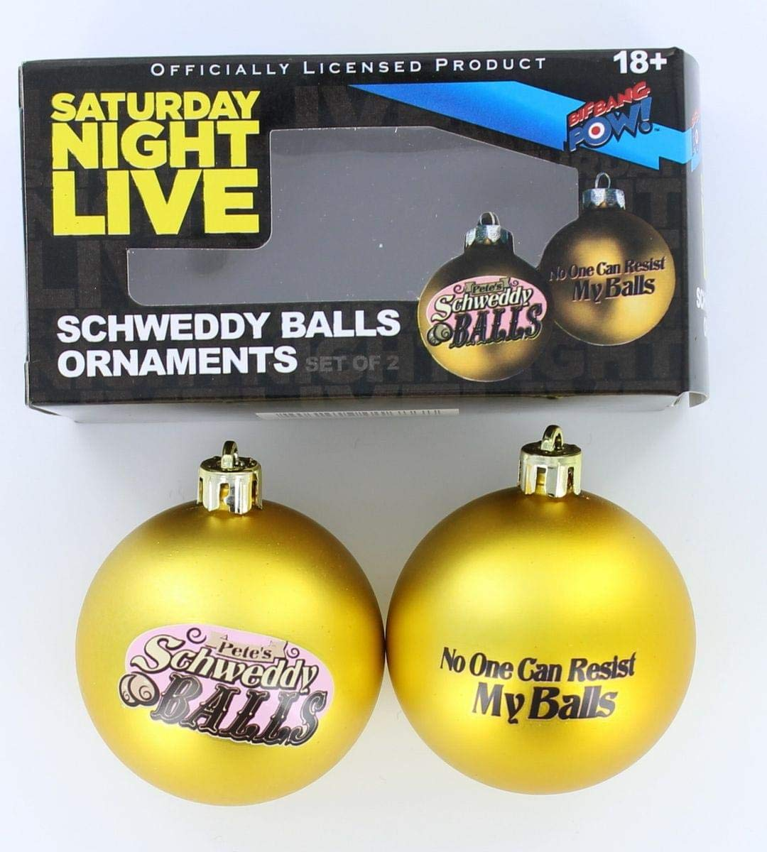 Saturday Night Live Schweddy Balls Ornaments