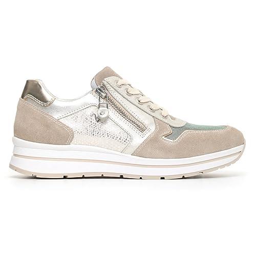 Nero Giardini Donna Sneakers Beige (Ivory) P805243D Scarpe in Camoscio  Primavera Estate 2018 fc9d85c79ef