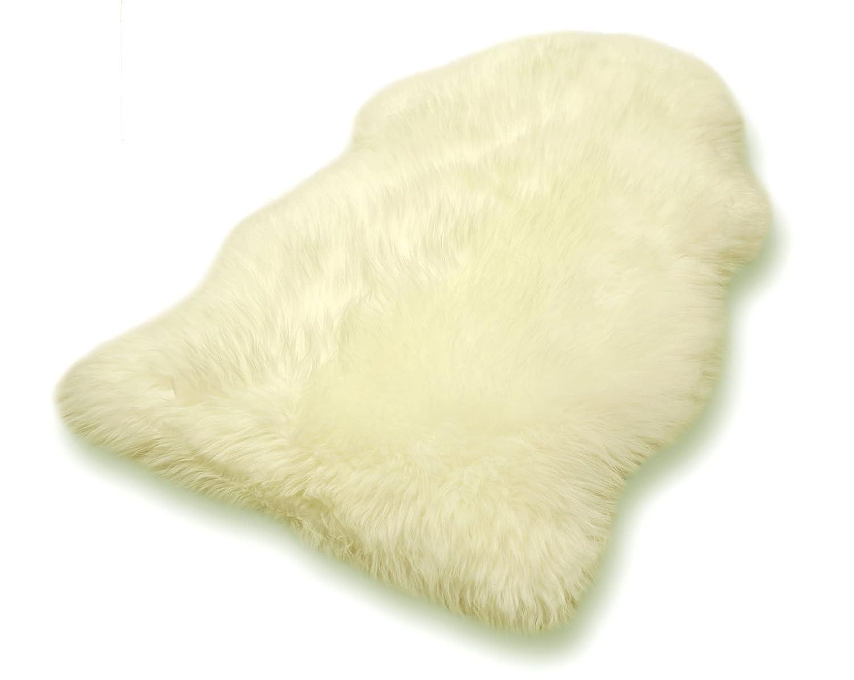 Premium Merino Lammfell voll waschbar ca. 100 cm Schaffell versch. Farben Fell (weiß)