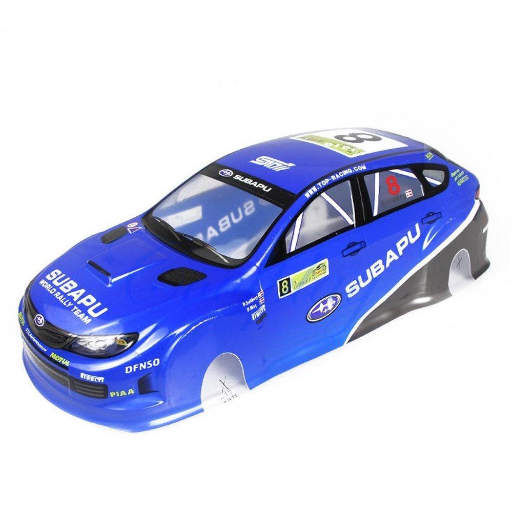 Coolplay 1/10 PVC On Road Drift Rally Subapu Sti X Car Body Shell RC Racing Accessories (Blue)