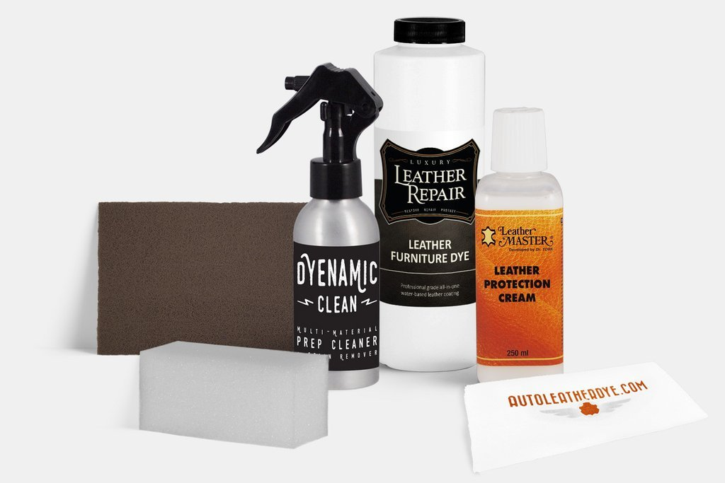 Professional DIY Leather and Vinyl Furniture Dye Kit (16oz, Medium Dark Saddle)