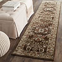 Safavieh Total Perform Collection TLP721C Hand-Hooked Brown and Green Runner (23 x 9)
