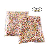 #5: Teenitor Pack of 2 Mini Styrofoam Foam Balls 0.1-0.18 Inch Household School Arts Crafts Supplies Fits For Stick to Slime - Assorted Colors (20000 Foam Balls)