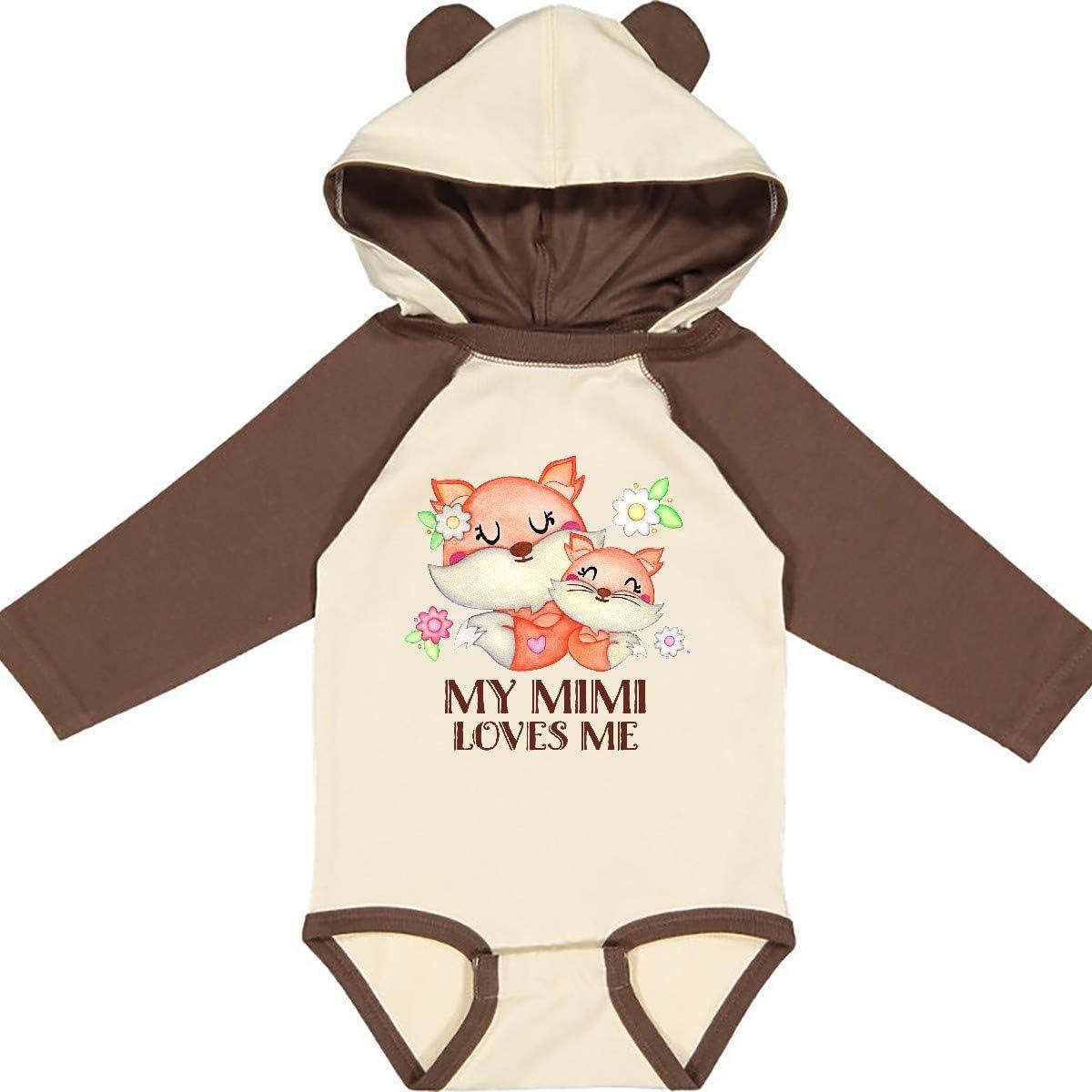 inktastic My Mimi Loves Me Cute Fox Long Sleeve Creeper