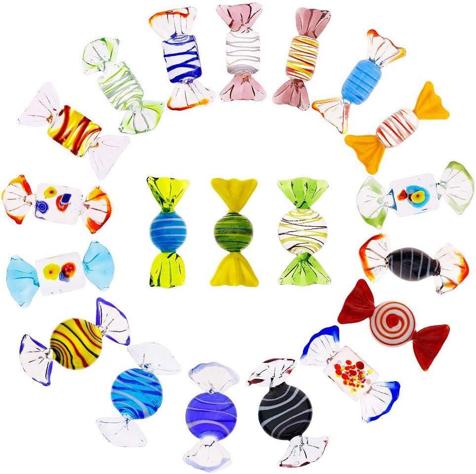 RUNGAO 20 unids Estilo de Murano de la Vendimia Dulces de Cristal Ornamento del Caramelo para el Partido casero de la Boda Festival de Navidad Decoraciones Regalo Ornamento del Caramelo Conjunto