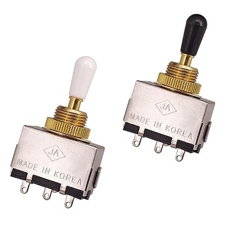 Baoblaze 2 Piezas Interruptores de Selector de Pastillas de Guitarra Pieza de Repuestos para Bajos