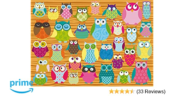 Owls Puzzle 500 Piece Collage by Schmidt Cartoon Comic Whimsical