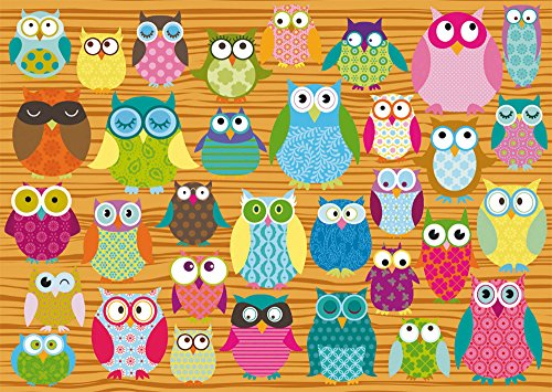 Panoramic 500 Piece Puzzle - SCHMIDT Owls Children's Puzzle (500-Piece)