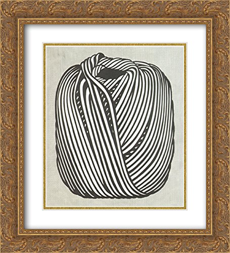 Ball of Twine, 1963 2X Matted 18x15 Gold Ornate Framed Art Print by Roy Lichtenstein